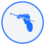 high5-circle-icons-blue-art